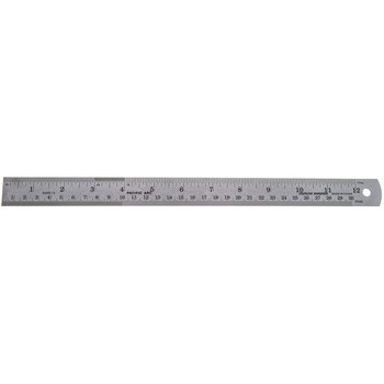 Stainless Steel Ruler with Cork Back